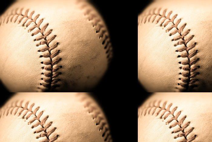 Tapeta Pixerstick Fotografie sépie baseballu - Sportovní potřeby