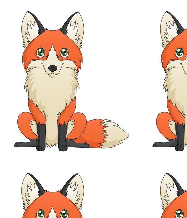 Tapeta Pixerstick Fox Sitting - Savci