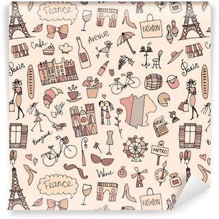 Vinylová Tapeta France sketch, bezešvé vzor pro váš design