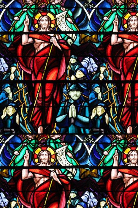 Vinylová Tapeta Francie, vitráže de l'Eglise de Beuvron en Auge - Prázdniny