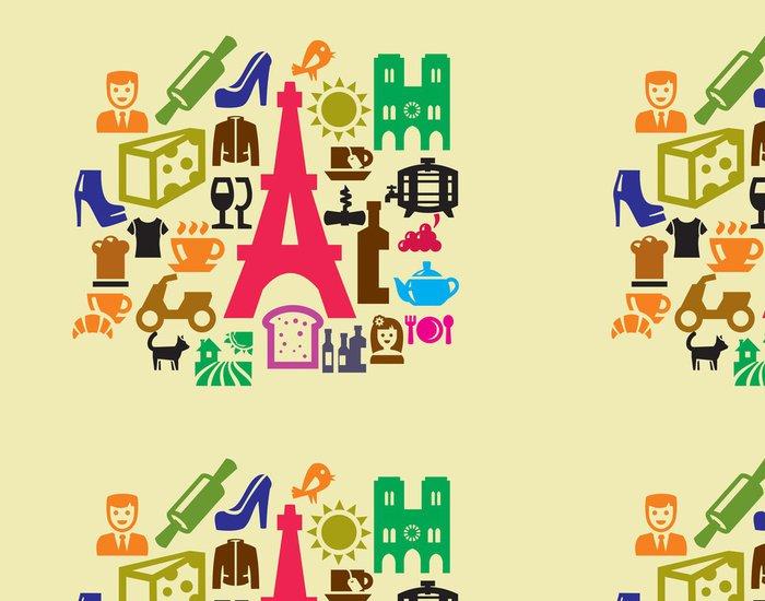 Vinylová Tapeta Francouzské ikony kultury - Umění a tvorba