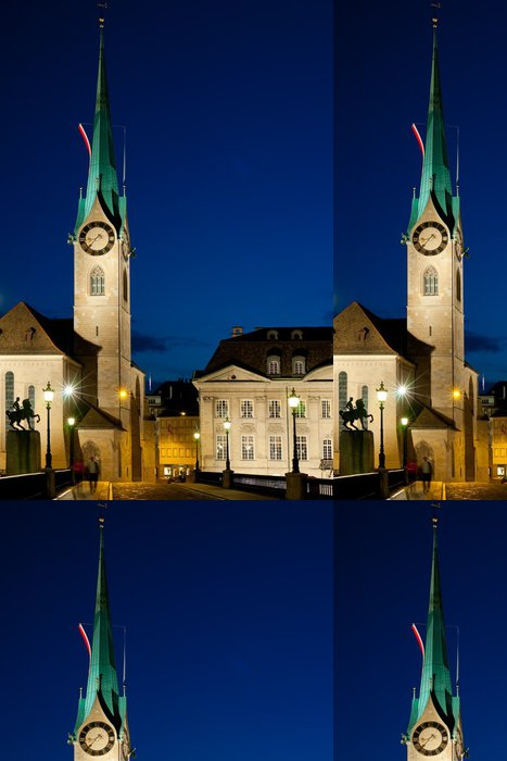 Tapeta Pixerstick Fraumunster kostel v Curychu - Evropa