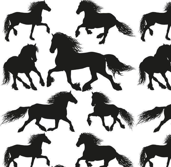 Tapeta Pixerstick Fríský kůň plemene - Savci