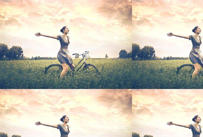 Vinylová Tapeta Fun v přírodě - Cyklistika