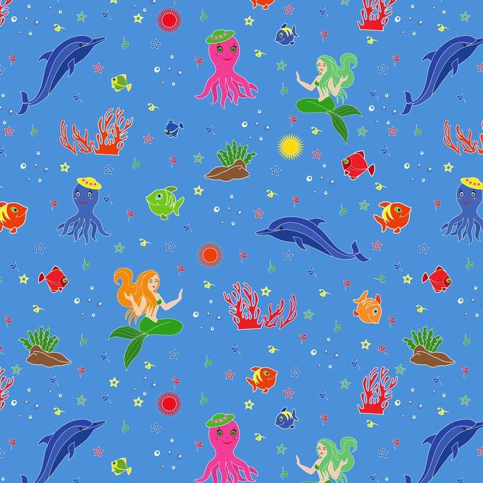 Tapeta Pixerstick Funny podvodní mořský život - Imaginární zvířata