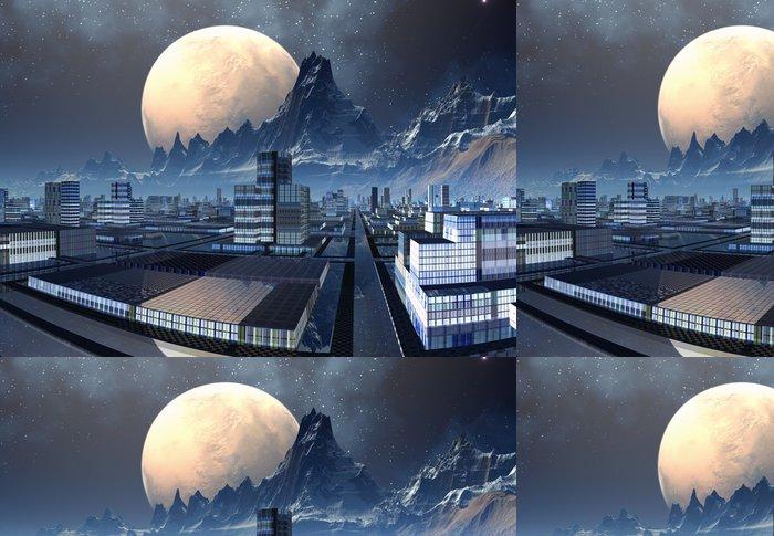 Tapeta Pixerstick Futuristický Alien City - počítačové kresby - Meziplanetární prostor