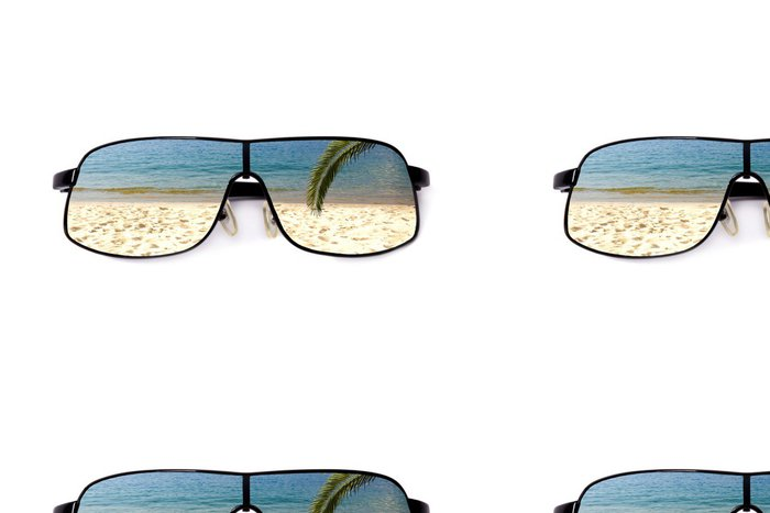 Vinylová Tapeta Gafas de sol y playa - Prázdniny
