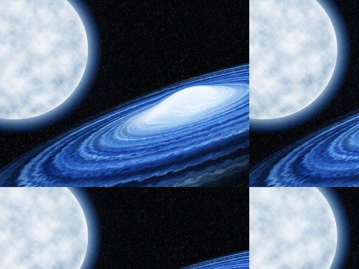 Vinylová Tapeta Galaxy a měsíc - Meziplanetární prostor