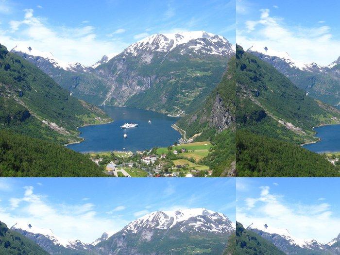 Tapeta Pixerstick Geirangerfjord z Dalsnibba - Evropská města
