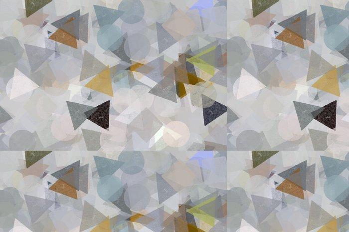 Vinylová Tapeta Geometrické tvary ilustrační. Štětec barvy vzor. - Témata