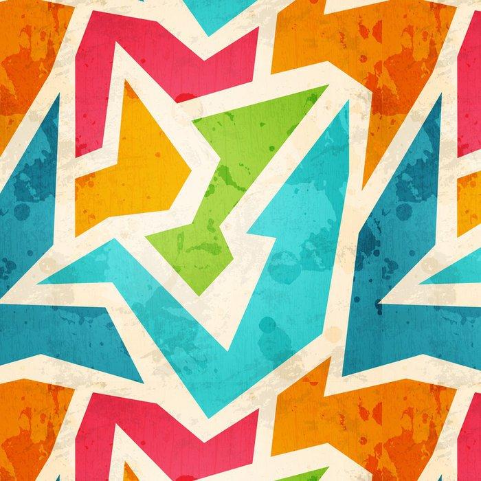 Tapeta Pixerstick Geometrický vzor bezešvé s grunge efekt - Pozadí