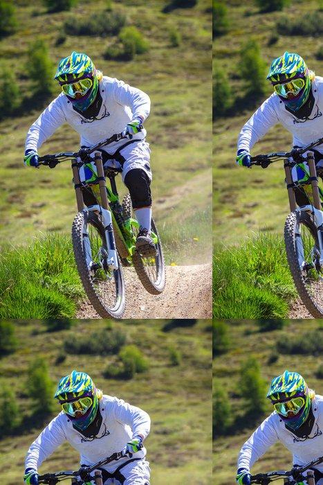 Tapeta Pixerstick Girl-biker - Individuální sporty