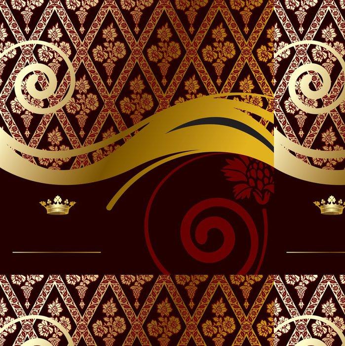 Tapeta Pixerstick Gold barokní pozadí - Národní svátky