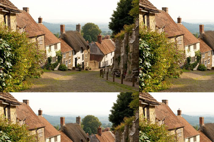 Tapeta Pixerstick Gold Hill, Shaftesbury, Dorset, Velká Británie - Město