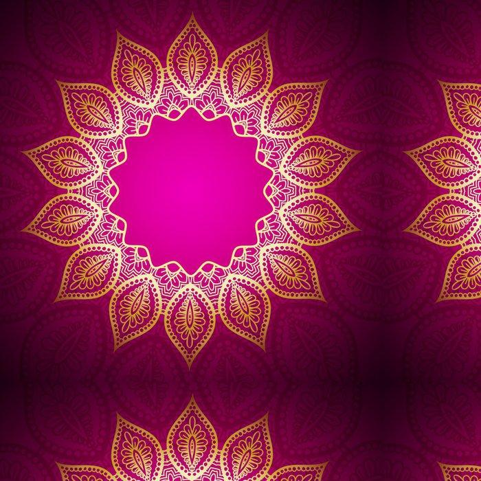 Vinylová Tapeta Gold Mandala Frame - Pozadí