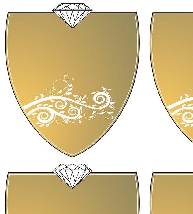 Tapeta Pixerstick Gold Wappen - Úspěch
