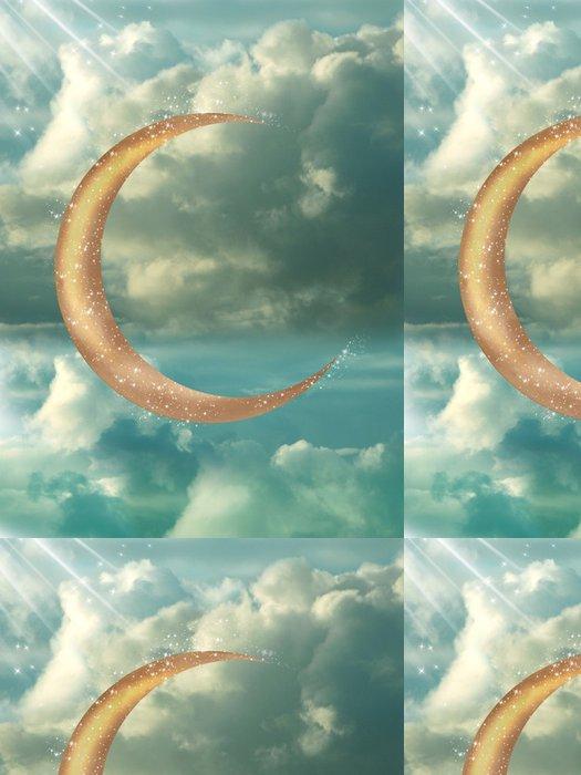 Tapeta Pixerstick Golden Moon - Přírodní krásy