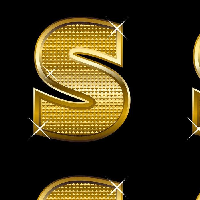 Tapeta Pixerstick Golden typ písma písmeno S - Témata