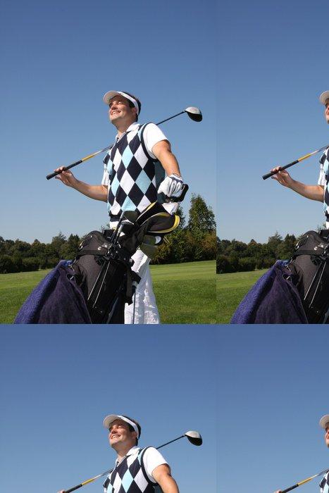 "Tapeta Pixerstick GOLF - ""Lieber im Rough als im Büro"" - Golf"