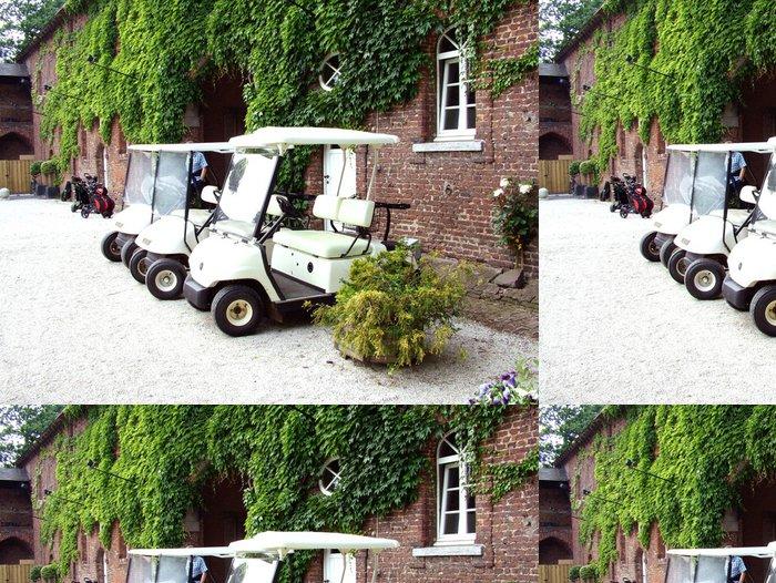 Vinylová Tapeta Golfcart - Individuální sporty