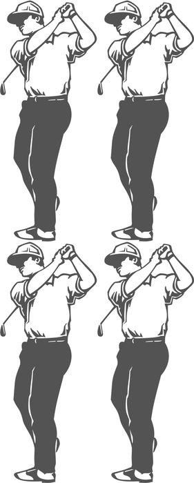 Tapeta Pixerstick Golfista Vinyl Připraveno vektorové ilustrace - Individuální sporty