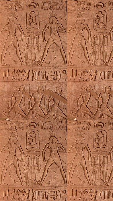 Tapeta Pixerstick Grabado del Templo de Ramses II en Abu Simbel en Egipto. - Afrika