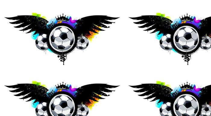 Tapeta Pixerstick Graffiti obraz s míčky - Týmové sporty