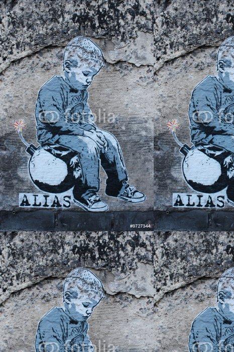 Vinylová Tapeta Graffiti streetart Berlin - Evropská města