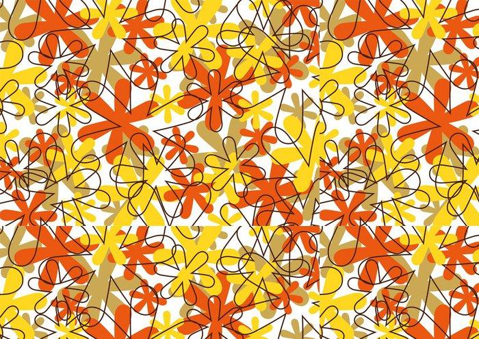 Tapeta Pixerstick Grafický vzor - Květiny