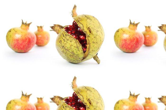 Tapeta Pixerstick Granáty ouverte ovoce Mur - Ovoce