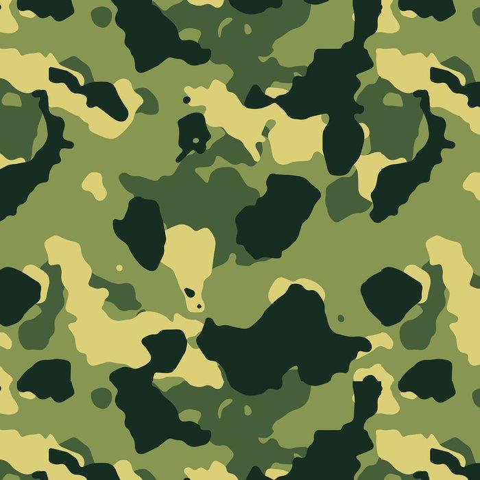 Tapeta Pixerstick Green vojenské maskovací vzor bezešvé vektor - Témata