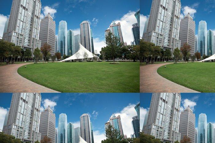 Tapeta Pixerstick Greenbelt Park v Šanghaji - Veřejné budovy
