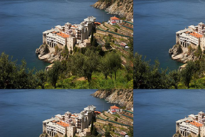 Tapeta Pixerstick Grigoriou klášter pohled od jihu, Mount Athos - Evropa