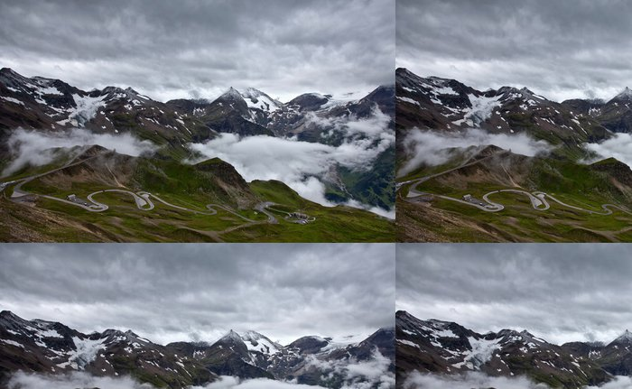 Tapeta Pixerstick Grossglockner High Alpine Road. - Hory