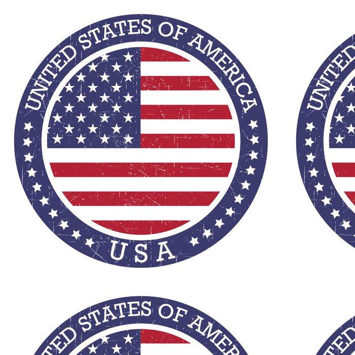 Tapeta Pixerstick Grunge kolo razítko Spojených států amerických - USA - Značky a symboly