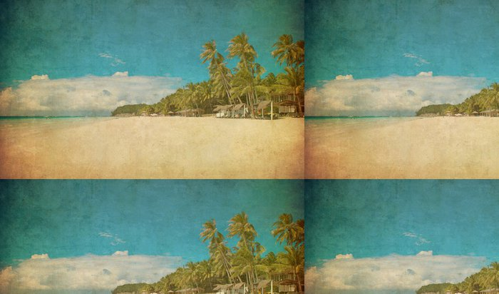 Vinylová Tapeta Grunge obraz tropické pláži - Prázdniny