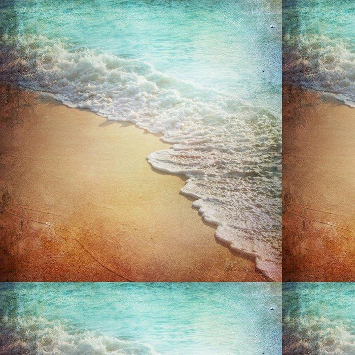 Tapeta Pixerstick Grunge Paper Beach pozadí - Oceánie