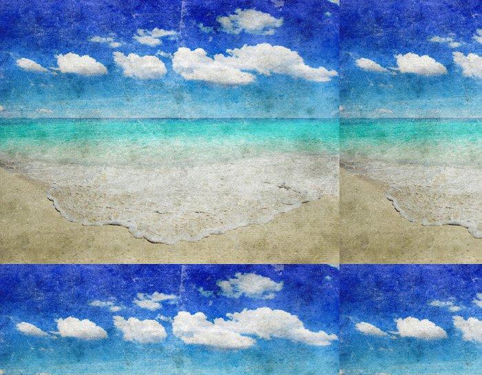 Tapeta Pixerstick Grunge pláž - Roční období
