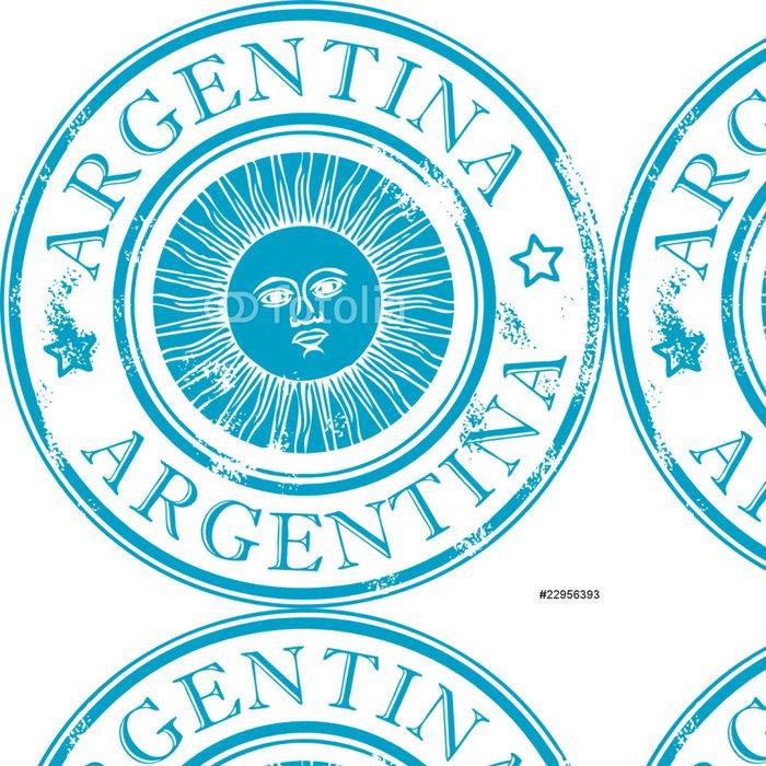 Tapeta Pixerstick Grunge razítko se symbolem slunce, Argentina - Značky a symboly
