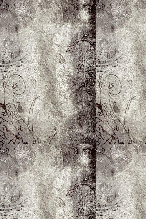 Tapeta Pixerstick Grunge sépie stránky s tmavým špinavým malované textury - Pozadí