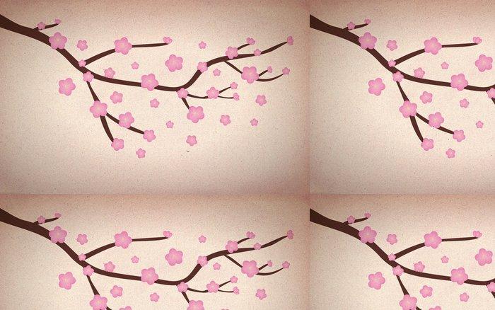 Vinylová Tapeta Grunge Třešňový květ - Styly
