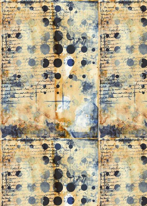 Vinylová Tapeta Grunge umělecký styl barevné texturou abstraktní digitální pozadí - Pozadí