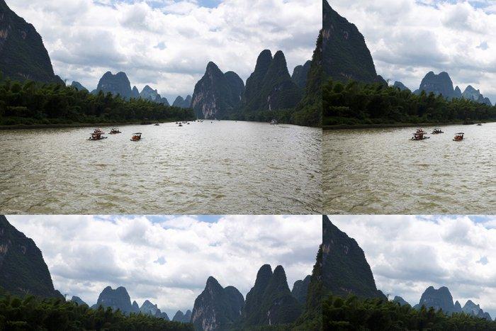 Tapeta Pixerstick Guilin krasové hory krajiny - Asie