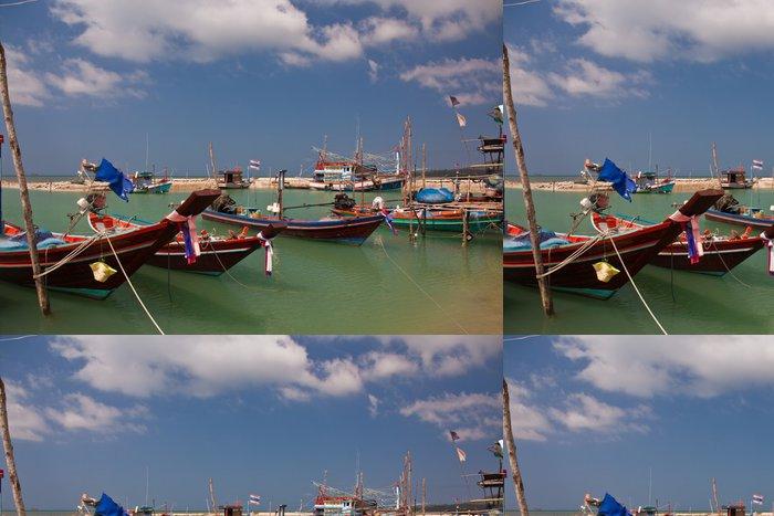 Tapeta Pixerstick Hafen Ao Wok Tum - Koh Phangan - Lodě