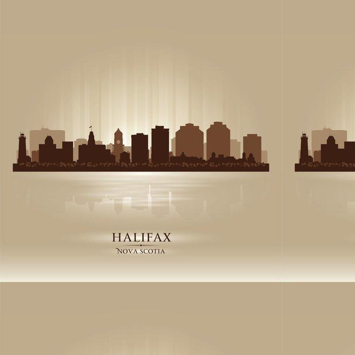 Vinylová Tapeta Halifax Kanada silueta panorama města - Amerika