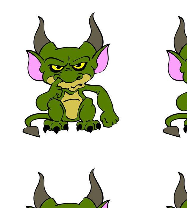Tapeta Pixerstick Halloween Goblin Zelená - Mezinárodní svátky