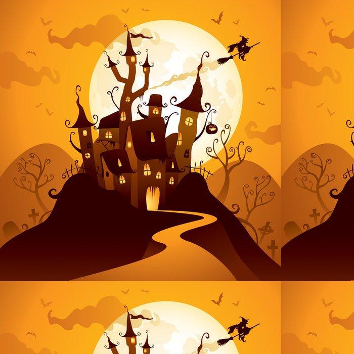 Tapeta Pixerstick Halloween hrad - Mezinárodní svátky