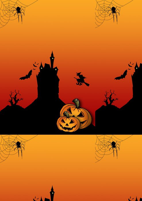 Tapeta Pixerstick Halloween leták Blanko - Mezinárodní svátky