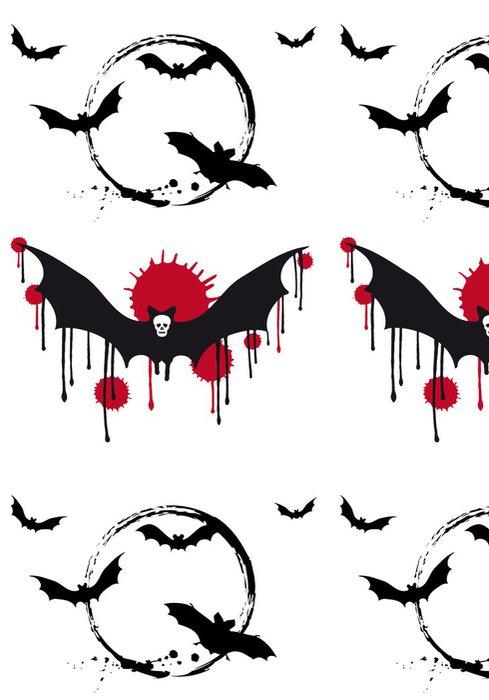 Tapeta Pixerstick Halloween netopýři, vector set - Mezinárodní svátky