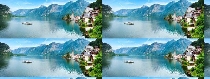 Tapeta Pixerstick Hallstatt pohled (Rakousko) - Roční období